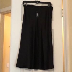 Express Skirts - High Wasted Satin Midi Skirt